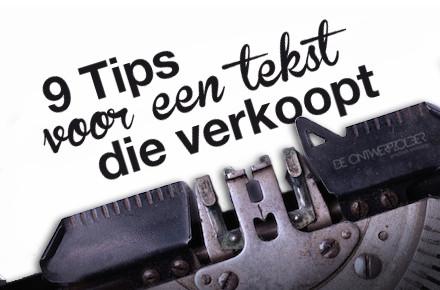 9 Tips voor een tekst die verkoopt
